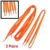 "Lady Plastic Tips 41.7"" Long Cord String Orange Flat Shoelaces 3 ..."