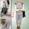 Ladies Sleeveless Scoop Neck Shoulder Pads Light Gray Tank Shirt ...