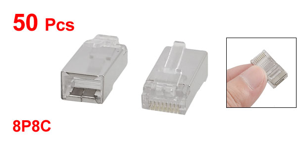 Ethernet 8P8C RJ45 CAT 5E Shielded Modular Socket Connectors 50 Pcs