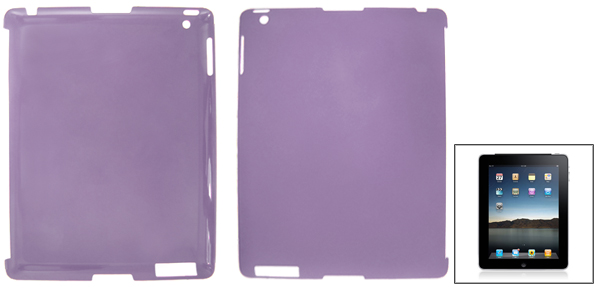 Clear Purple Anti-glare Hard Plastic Back Cover for The New iPad 2 3