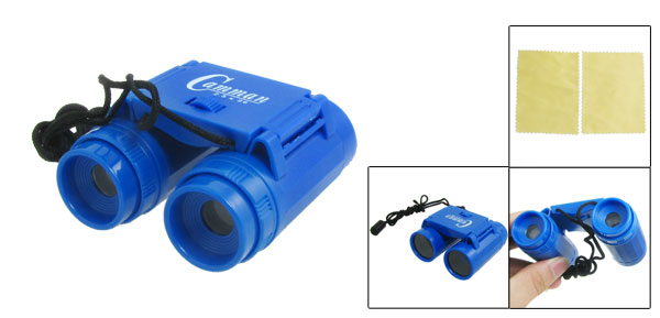 Kids Mini 2.5X Magnification Foldup Binoculars Telescope Toy Blue