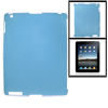 Anti-glare Protective Clear Blue Hard Back Case for iPad 2 3
