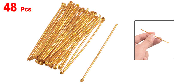 48 Pcs Gold Tone Aluminum Ear Wax Remover Earpicks