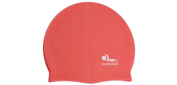 Red Soft Silicone Waterproof Swimming Cap for Adult Swimmer