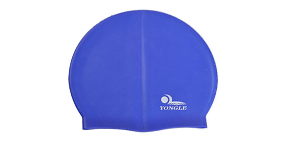 Adult Swimmer Blue Soft Silicone Waterproof Swimming Cap