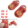2 Pcs Gold Tone Floral Pattern Red Baby Boy Girl Crib Toddler Clo...
