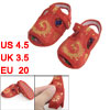 2 Pcs Embroidery Phoenix Flower Print Red Baby Toddler Cloth Sand...