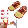 Pair Yellow Dragon Pattern Festival Gift 1-4 Years Toddler Shoes