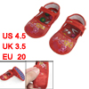 Pair US 4.5 Flower Pattern Hook Loop Fastener Red Toddler Shoes 1...