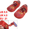 2 x Amaranth Yellow Flower Print Red Baby Crib Toddler Shoes 16