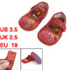 2 x Yellow Amaranth Floral Print Red Baby Crib Toddler Shoes US 3...