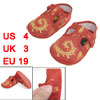 2 Pcs Gold Tone Floral Pattern Hook Loop Fastener Red Crib Toddle...