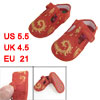 Pair Embroidery Phoenix Flower Pattern Red Baby Crib Toddler Shoe...