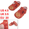 2 Pcs Floral Pattern T Srtap 1-4 Years Baby Toddler Shoes Red US ...