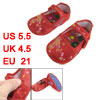 Pair Embroidery Flower Pattern Red Baby Crib Toddler Shoes US 5.5
