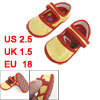 2 Pcs Yellow Dragon Pattern Hook Loop Fastener Baby Infant Shoes ...