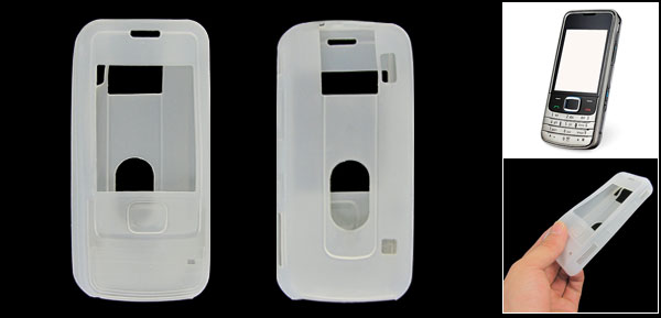 White Soft Silicone Cover Case Guard for Nokia 6280