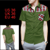 Mens Deep Green NEW Trendy Checkers Patt...