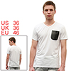 Mens Stylish White Casual V Neck NEW Fashion Summer Tee Shirt Top...