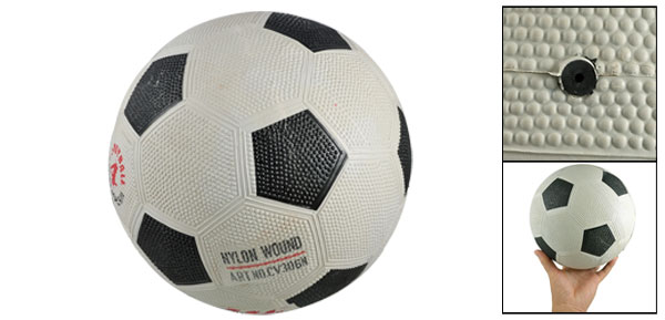 Beach White Black Nylon Wound Rubber Playing Soccer Football for Children