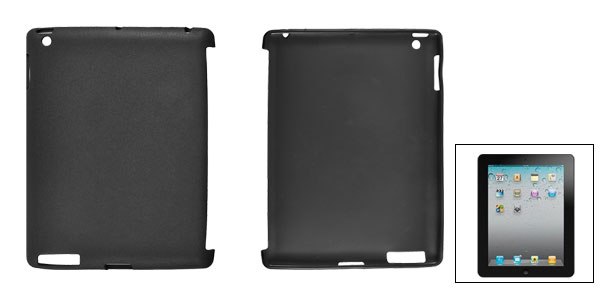 Black Soft Plastic Protective Back Case Cover for Apple iPad 2 3
