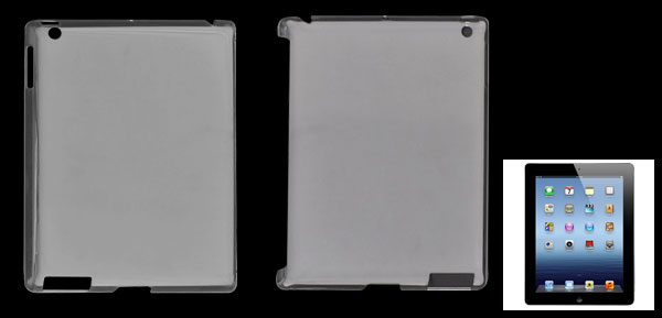 Clear Hard Plastic Back Shield Case for Apple iPad 2 3