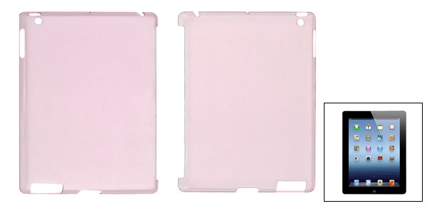Clear Pink Hard Plastic Protective Back Case Cover for Apple iPad 2 3