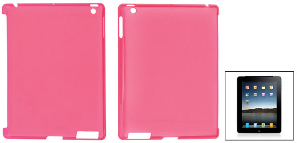 Clear Magenta Hard Plastic Protective Back Cover for Apple iPad 2 3