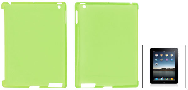 Clear Green Hard Plastic Protective Back Case for Apple iPad 2 3
