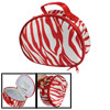 lady red white zebra print mirror zipper...