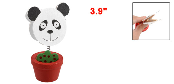 Flower Pot Design Panda Shaped Memo Clip Place Card Holder