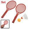 3 in 1 Red Plastic Badminton Racket Table Tennis Shuttlecock Set ...