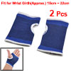 2 Pcs Black Blue Elastic Band Wrist Support Protector for Woman Lady