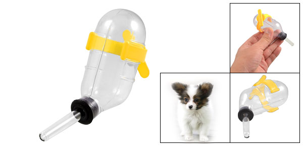 Clear Plastic Water Bottle Feeder Waterer for Puppy Pet