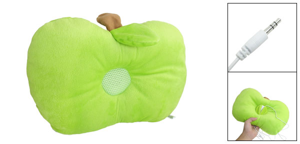 Soft Green Brown Plush Sleeping Pillow Music Speaker