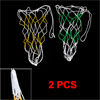2 Pcs White Yellow Green Mesh Net Basketball Football Carrying Ba...