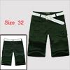 Mens Army Green NEW Stylish Side Pockets Walking S...