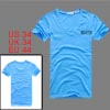 Mens V Neck Bright Blue Short Sleeve Casual Fashion Stretchy Tee ...