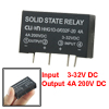 Input 3-32V DC Output 4A 200V DC 4 Pin PCB Solid State Relay HHG1...