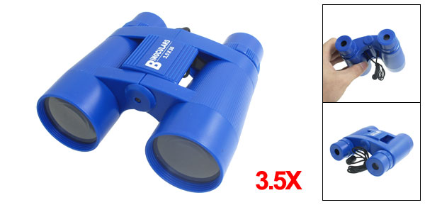 3.5 x 36mm Blue Plastic Folded Binoculars Telescope for Children
