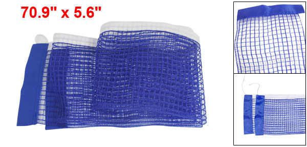 Blue Nylon Replacement Table Tennis Net w Pull String