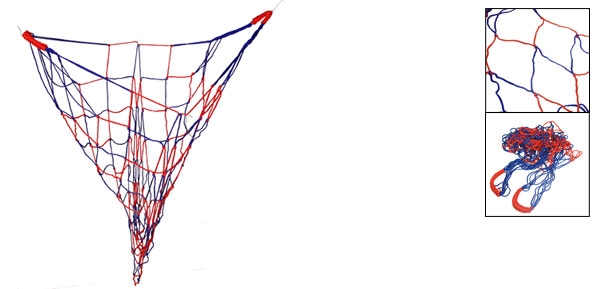 Red Blue Nylon Football Basketball Meshy Net Holder Bag
