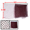 6M Long Nylon White Trim Burgundy Braided Mesh Badminton Training Net