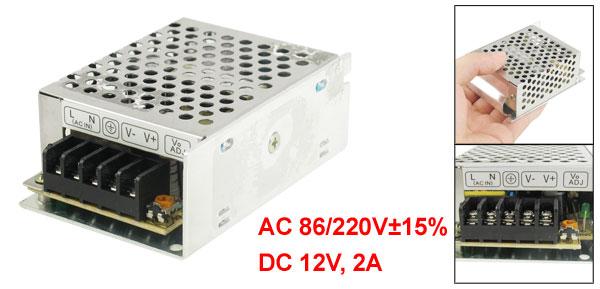 AC 110/220V DC 12V 2A 24W Switching Power Supply Driver for LED Strip Light