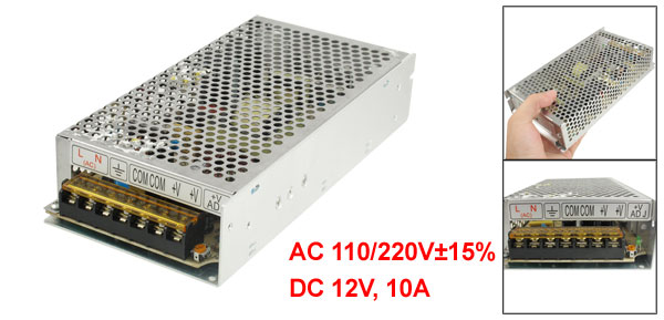 AC 110/220V 12V 10A 120W Switch Power Supply Driver for LED Flexible Strip Light