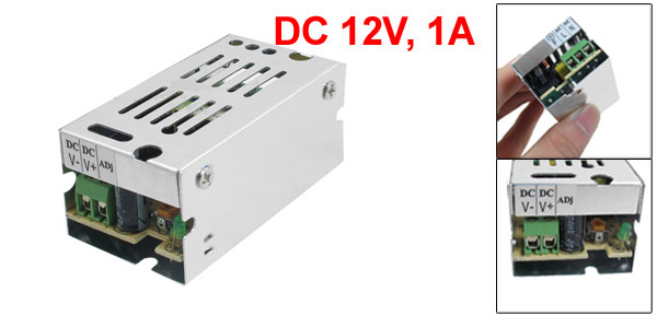 AC 110/220V DC 12V 1A 12W Switch Power Supply Driver for LED Strip Illuminated