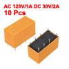10 x DC 5V Coil 125V/1A DC 30V/2A AC 2A/30V DC 8 Pins DPDT Power ...