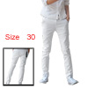 Mens Korea White Casual Zip Fly NEW Styl...