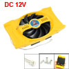 PC Computer Heatsink CPU Cooling Fan Replacement 2 Pin Yellow Bla...