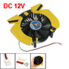 120x90mm PC Desktop Cooling Cooler Fan Plastic Yellow Black